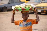 Boy selling fruit in Kakata, Liberia.